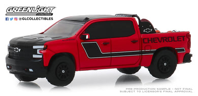 GreenLight 1:64 2019 Chevrolet Silverado in Red with Safety Equipment in Truck Bed 30087