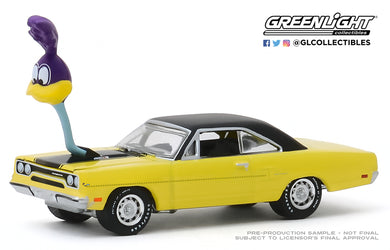 GreenLight 1:64 1970 Plymouth Road Runner with The Loved Bird Road Runner Air Grabber Figure 30088