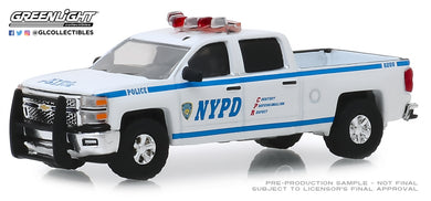 GreenLight 1:64 2015 Chevrolet Silverado - New York City Police Dept (NYPD) 30093