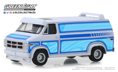 GreenLight 1:64 1983 GMC Vandura Custom - White with Custom Graphics 30094