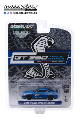 GreenLight 1:64 2016 Ford Mustang Shelby GT350 - Ford Performance Racing School GT350 Track Attack #12 - Deep Impact Blue 30109