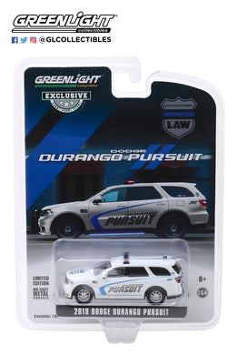 GreenLight 1:64 2019 Dodge Durango Pursuit Police SUV - White (Hobby Exclusive) 30119