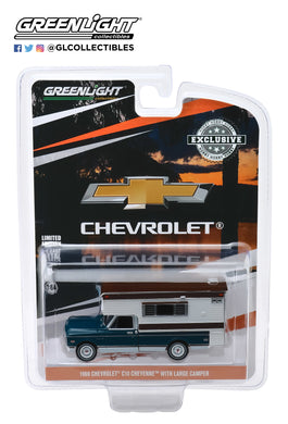 GreenLight 1:64 1969 Chevrolet C10 Cheyenne with Large Camper 30121