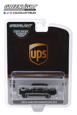 GreenLight 1:64 1975 Checker Taxicab Parcel Delivery - United Parcel Service (UPS) Canada Ltd (Hobby Exclusive) 30128