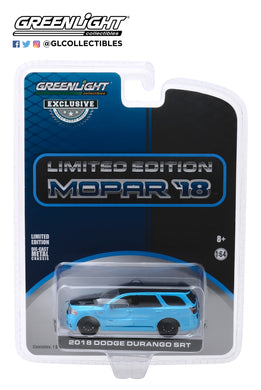 GreenLight 1:64 2018 Dodge Durango SRT - Limited Edition MOPAR 18 - Blue Pearl Coat (Hobby Exclusive) 30130