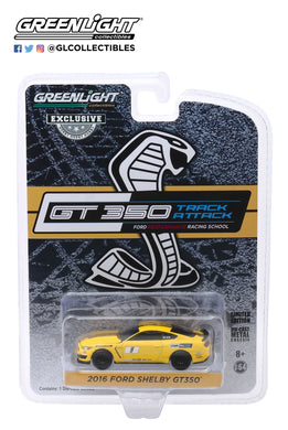 GreenLight 1:64 2016 Ford Mustang Shelby GT350 - Ford Performance Racing School GT350 Track Attack #1 - Triple Yellow (Hobby Exclusive) 30134