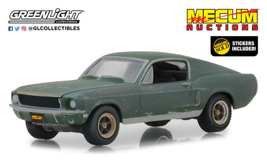 GreenLight 1:64 Mecum Auctions Collector Cars - Unrestored Bullitt 1968 Ford Mustang GT Fastback - Kissimmee 2020 (Hobby Exclusive) 30136