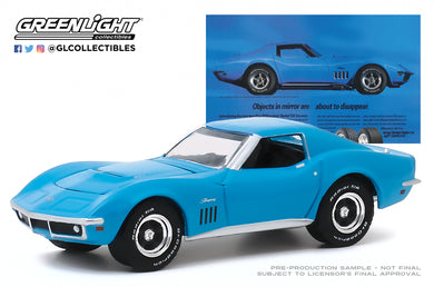 GreenLight 1:64 BFGoodrich Vintage Ad Cars - 1969 Chevrolet Corvette Objects In Mirror Are About To Disappear 30137
