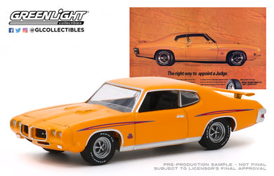 GreenLight 1:64 BFGoodrich Vintage Ad Cars - 1970 Pontiac GTO Judge The Right Way To Appoint A Judge 30138