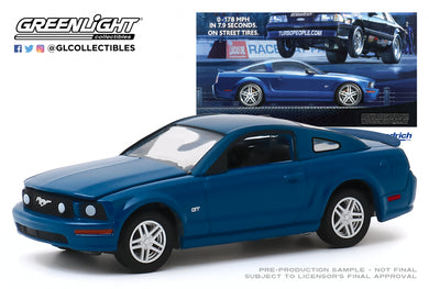 GreenLight 1:64 BFGoodrich Vintage Ad Cars - 2009 Ford Mustang GT 0-178 MPH In 7.9 Seconds. On Street Tires 30139