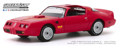 GreenLight 1:64 1979 Pontiac Firebird Fire Am by Very Special Equipment (VSE) - Red with Hood Bird 30147