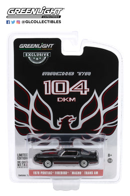 GreenLight 1:64 1978 Pontiac Firebird Macho Trans Am #104 of 204 by Mecham Design - Black and Red 30149