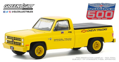 GreenLight 1:64 1986 Chevy Chevrolet Silverado 70th Annual Indianapolis 500 Mile Race Official Truck 30165