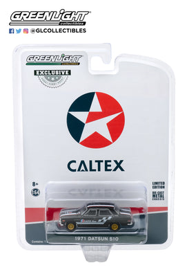 GreenLight 1:64 1971 Datsun 510 4-Door Sedan - Caltex with Techron 30169
