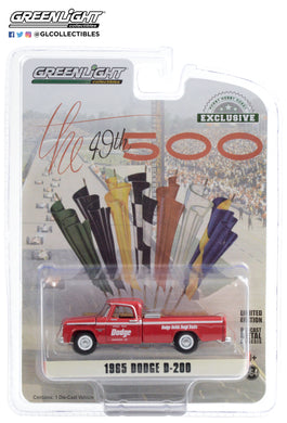 GreenLight 1:64 1965 Dodge D-200 49th International 500 Mile Sweepstakes Official Truck Dodge Builds Tough Trucks 30184