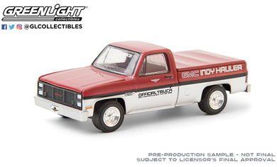 GreenLight 1:64 1985 GMC High Sierra 69th Annual Indianapolis 500 Mile Race GMC Indy Hauler Official Truck 30202