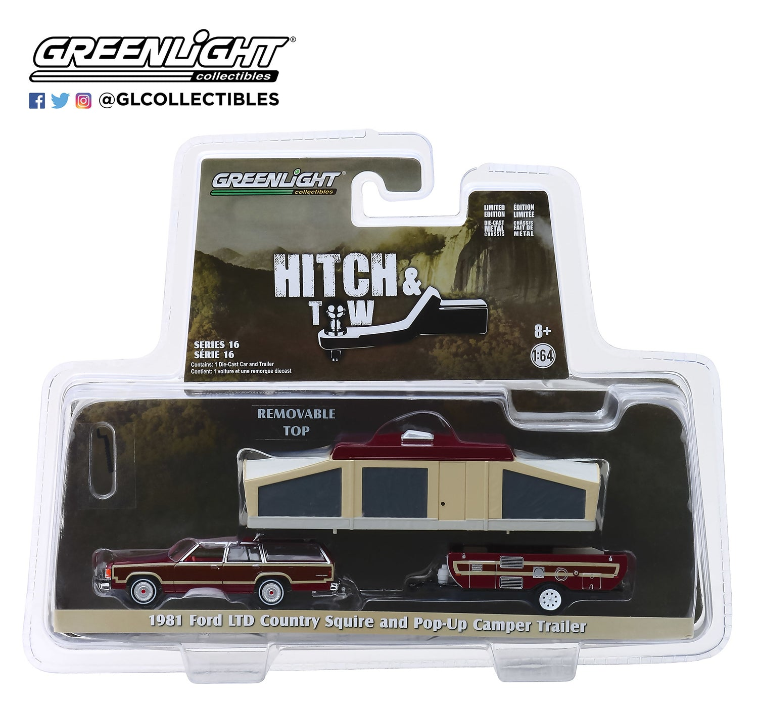 GreenLight 1/64 Hitch & Tow Series 16 - 1981 Ford LTD Country Squire