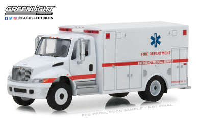GreenLight 1/64 H.D. Trucks Series 14 - 2013 International Durastar Ambulance - Fire Department Emergency Medical Services ALS Unit 33140-B OPEN BOX