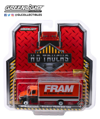 GreenLight 1/64 H.D. Trucks Series 16 - 2013 International Durastar Box Van - FRAM Oil Filters 33160-B