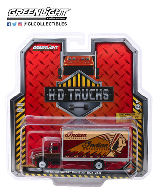 GreenLight 1:64 H.D. Trucks Series 17 - 2013 International Durastar Box Van - Indian Motorcycle 33170-A
