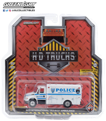 GreenLight 1:64 H.D. Trucks Series 19 - 2013 International Durastar - New York City Police Department (NYPD) Emergency Service 33190-B