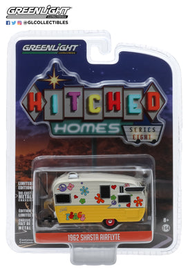 GreenLight 1:64 Hitched Homes Series 8 - Shasta Airflyte - Peace and Love 34080-F
