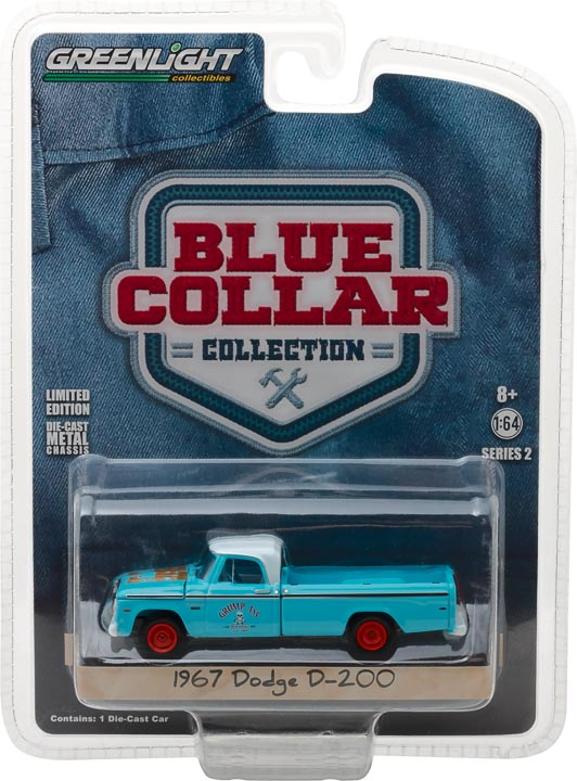 GreenLight 1/64 Blue Collar Collection Series 2 - 1967 Dodge D200 Grump s Garage 35060-A