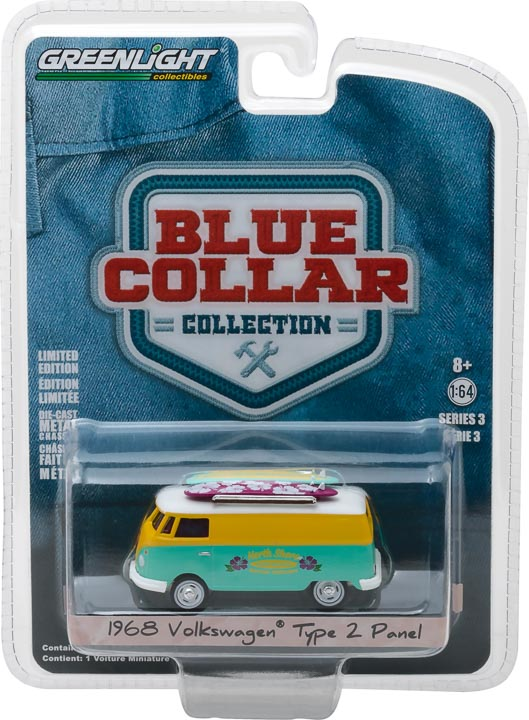 GreenLight 1/64 Blue Collar Collection Series 3 - 1968 Volkswagen Type 2 Panel