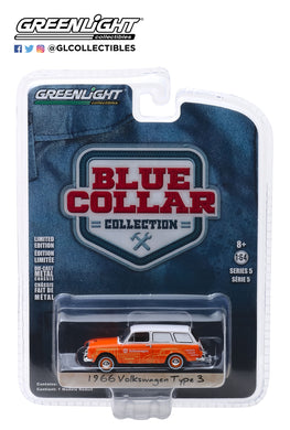 GreenLight 1/64 Blue Collar Collection Series 5 - 1966 Volkswagen Type 3 Panel Van - Volkswagen Sales and Service 35120-C