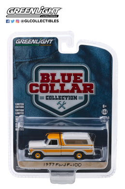 GreenLight 1/64 Blue Collar Collection Series 5 - 1977 Ford F-100 with Camper Shell 35120-D
