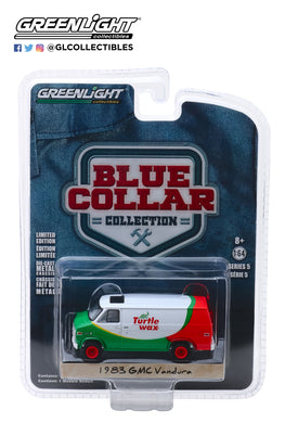 GreenLight 1/64 Blue Collar Collection Series 5 - 1983 GMC Vandura - Turtle Wax 35120-E