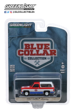 GreenLight 1:64 Blue Collar Collection Series 7 - 1990 GMC Jimmy - STP 35160-D