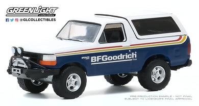 GreenLight 1:64 All-Terrain Series 10 - 1992 Ford Bronco with Off–Road Parts - BFGoodrich Tires 35170-E