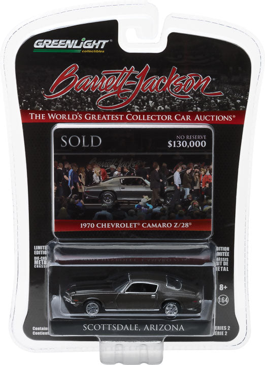 GreenLight 1/64 Barrett-Jackson 'Scottsdale Edition' Series 2 - 1970 Chevrolet Camaro Z/28 (Charity Car Benefiting Childhelp) 37130-D