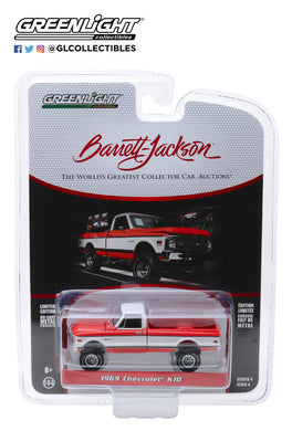 GreenLight 1:64 Barrett-Jackson Scottsdale Edition Series 4 - 1969 Chevrolet K10 4X4 Pickup (Lot# 1584) 37180-C