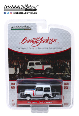 GreenLight 1:64 Barrett-Jackson Scottsdale Edition Series 4 - 1981 Jeep CJ-7 Custom (Lot #3005) 37180-E