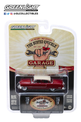 GreenLight 1/64 Busted Knuckle Garage Series 1 - 1955 Cadillac Fleetwood Series 60 Special-Motor Medic 39010-A