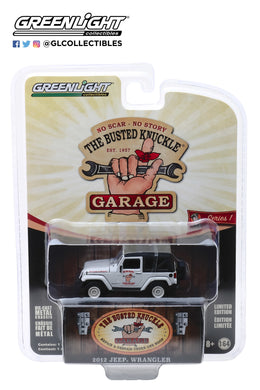 GreenLight 1/64 Busted Knuckle Garage Series 1 - 2012 Jeep Wrangler-Off Road Adventures 39010-E