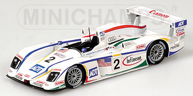 Minichamps 1/43 AUDI R8 - PIRRO/LEHTO/WERNER - TEAM CHAMPION RACING - 24H LE MANS 2004 #2 400041302