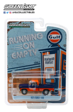GreenLight 1/64 Running on Empty Series 7 - 1971 Ford F-100 - Gulf Oil 41070-D