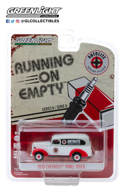 GreenLight 1/64 Running on Empty Series 8 - 1939 Chevrolet Panel Truck - Autolite Spark Plugs 41080-A