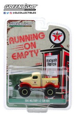 GreenLight 1/64 Running on Empty Series 8 - 1941 Military 1/2 Ton 4x4 - Texaco 41080-B