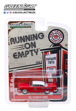 GreenLight 1:64 Running on Empty Series 9 - 1957 Plymouth Savoy - Red Crown 41090-A