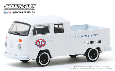 GreenLight 1:64 Running on Empty Series 10 - 1976 Volkswagen T2 Type 2 Double Cab Pick-Up - STP The Racer s Edge 41100-D