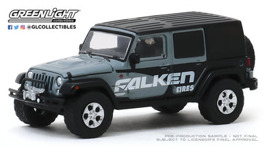 GreenLight 1:64 Running on Empty Series 10 - 2014 Jeep Wrangler Unlimited - Falken Tires - Grey 41100-E