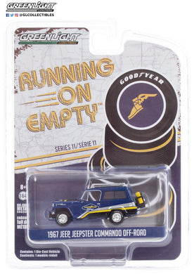 GreenLight 1:64 Running on Empty Series 11 - 1967 Jeep Jeepster Commando Off-Road - Goodyear Racing 41110-B