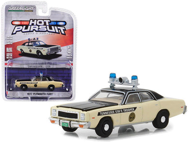 GreenLight 1/64 Hot Pursuit Series 28 - 1977 Plymouth Fury - Tennessee State Police 42850-A