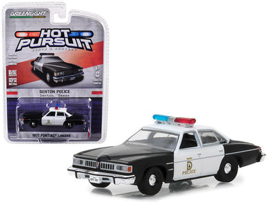 GreenLight 1/64 Hot Pursuit Series 28 - 1977 Pontiac LeMans - Denton, Texas 42850-B