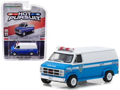 GreenLight 1/64 Hot Pursuit Series 28 - 1987 GMC Vandura - New York City Police Dept (NYPD) 42850-C