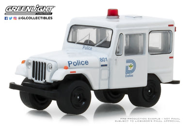GreenLight 1/64 Hot Pursuit Series 29 - 1977 Jeep DJ-5 - Dallas, Texas Police 42860-B